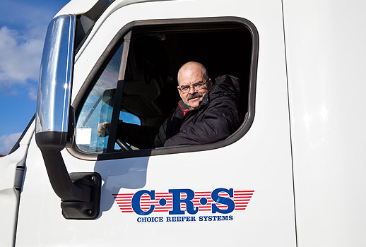 crs truck driver and transport truck